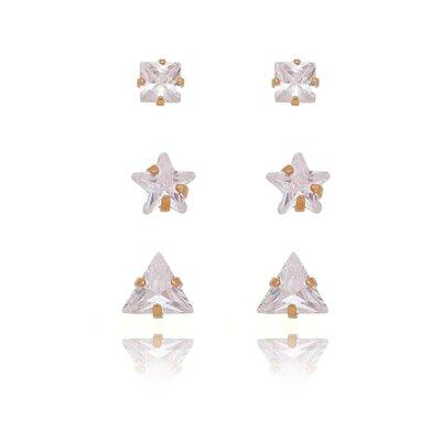 Brinco Trio de Ponto de Luz Formas Geometricas