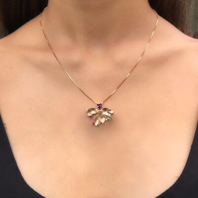 Colar Orquídea Grande