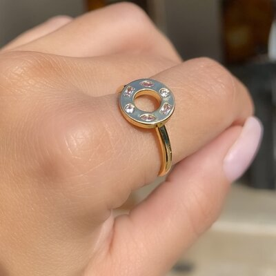 Anel Constellation Ouro 18k