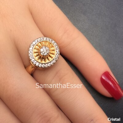 Anel Pizza OURO 18K