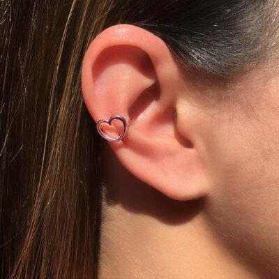 Piercing Coração Vazado Pink - UNIDADE