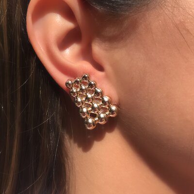 Ear Hook Triplo Esferas