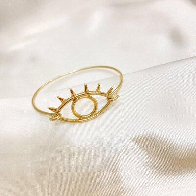Bracelete Olho Grego Liso com Cílios