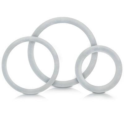 Conjunto de 3 Anéis Retardador Liso