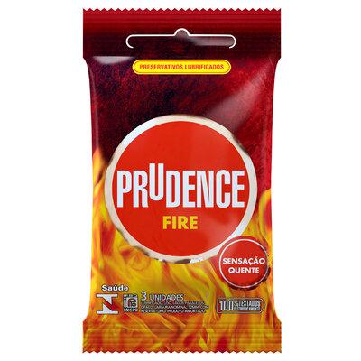 Preservativo Prudence Fire com 3 Unidades