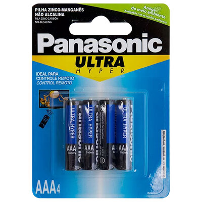 Pilha Panasonic Ultra Hyper Modelo Palito AAA