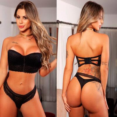 Conjunto Garota Veneno Cropped One for All