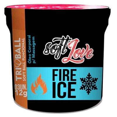 Bolinha Funcional Excitante Unissex Fire Ice com 3 Unidades