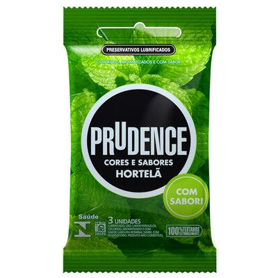 Preservativo Prudence Cores e Sabores Hortelã