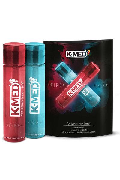 Kit K-MED Gel Lubrificante Íntimo Fire & Ice 40g