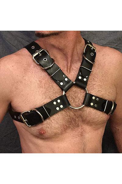 Harness Masculino em Couro - Gladiador