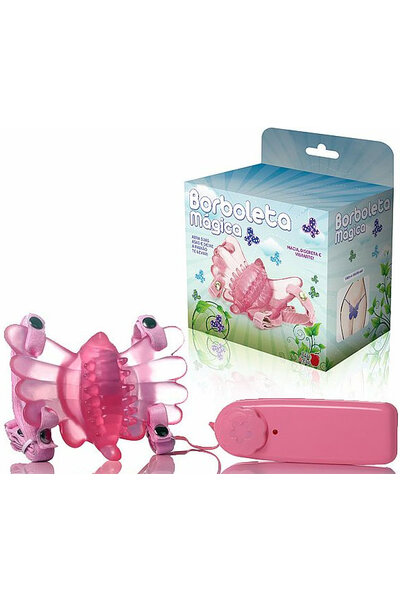 Borboleta Mágica - Butterfly Estimulador Feminino Rosa