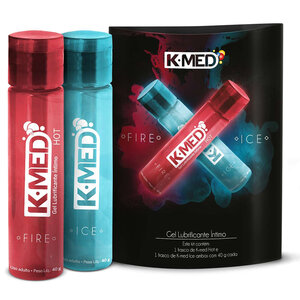 Kit K-MED Gel Lubrificante Íntimo Fire & Ice 40g