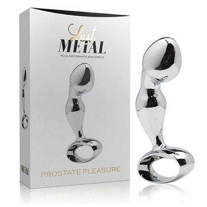Lust Metal - Estimulador de Próstata Pleasure com Formato Anatômico 8,3 cm x 2,5 cm