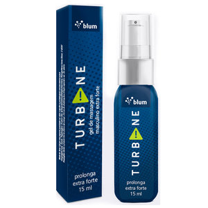 Gel Retardante e Excitante Turbine Sabor Extra Forte 15ml