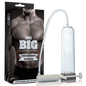 Bomba Manual Transparente Mr. Big com Seringa