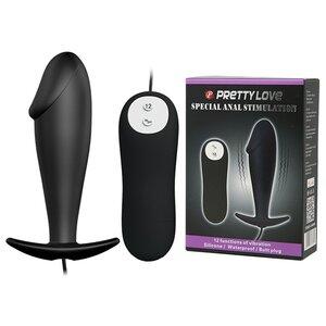 Plug Anal com Ponta Formato de Glande e 12 Modos de Vibração Pretty Love Special anal Stimulation 10