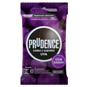 Preservativo Prudence Cores e Sabores Uva