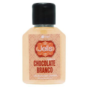 Gel Para Massagem Corporal Jells Chocolate Branco 30ml