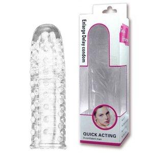 Capa Peniana Transparente com Saliências Massageadoras 14 cm x 3 cm
