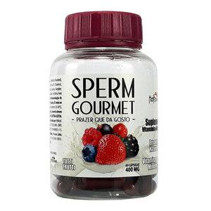 Suplemento Sperm Gourmet Sabor Tutti Frutti com 60 Cápsulas