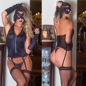 Fantasia Espartilho Batgirl
