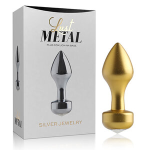 Lust Metal - Plug Anal Gold Jewelry 8,2 cm x 2,9 cm
