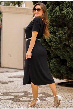 Vestido Longuete Manga Curta