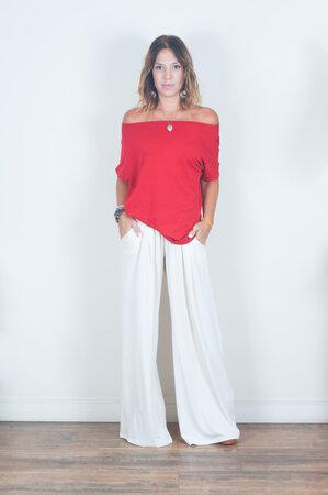 Pantalona + Decote Canoa