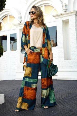 Pantalona Caroline + Kimono Nagoya