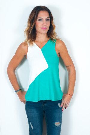 Blusa Bicolor