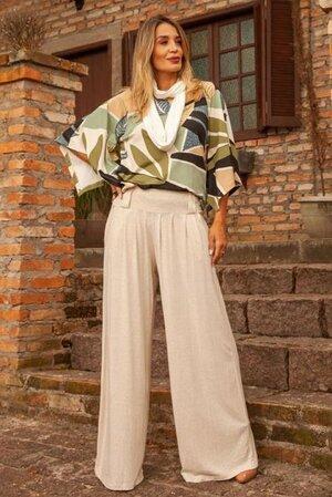 Pantalona + Manga Quadrada Estampada