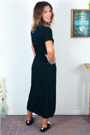 Vestido Mullet com Viés Liso