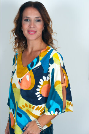 Blusa Indira Viscose Estampada