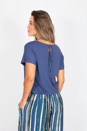 Blusa Decote Quadrado Lisa