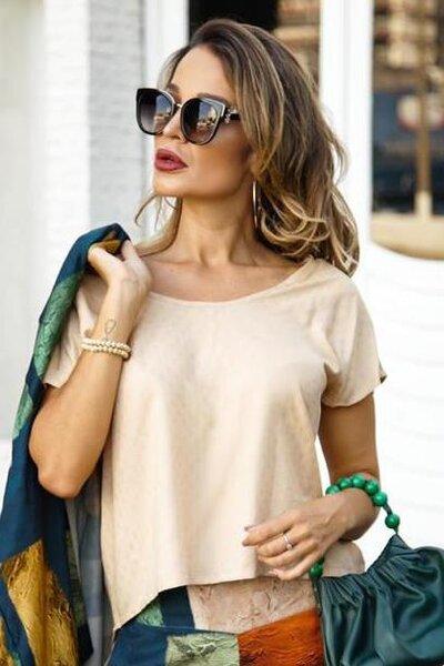 Blusa Capri em Viscose Lisa