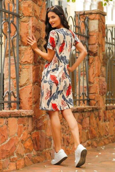Vestido com Bolsos Anna Estampado