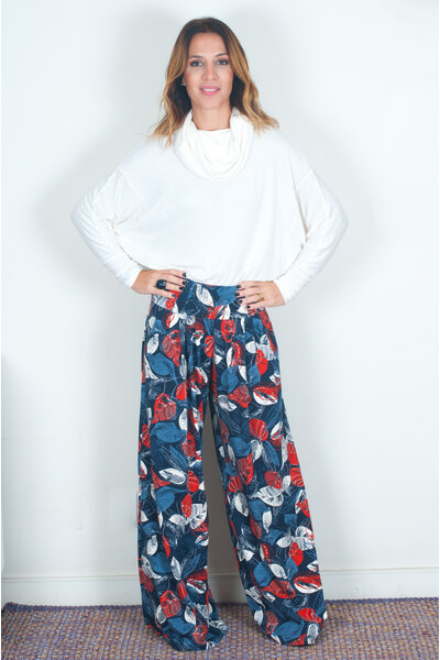Calça Pantalona Estampada