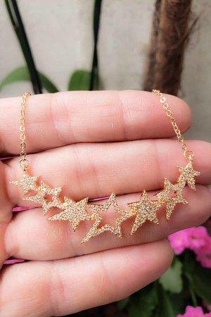 Colar Star ouro semijoias