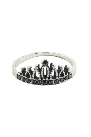 Anel Prata 925 coroa com zircônias