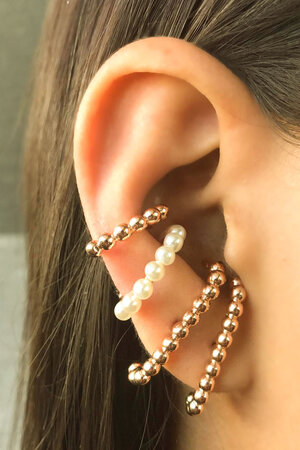 Mix Earhook Bolinhas Ouro