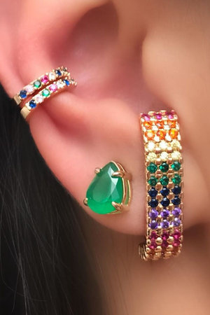 Mix Earhook Rainbow Ouro