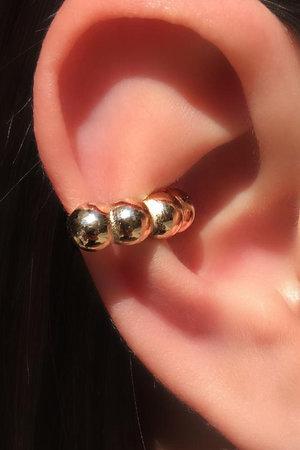 Falso piercing 4 esferas ouro semijoias