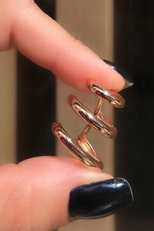 Falso Piercing 3 aros ouro semijoias