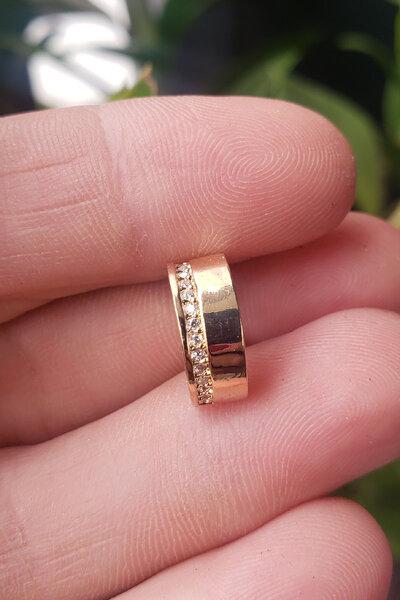 Falso piercing flat ouro semijoias