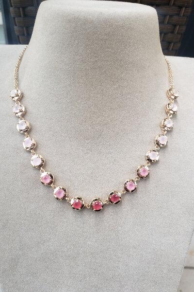 Choker degradee rosa ouro Semijoia