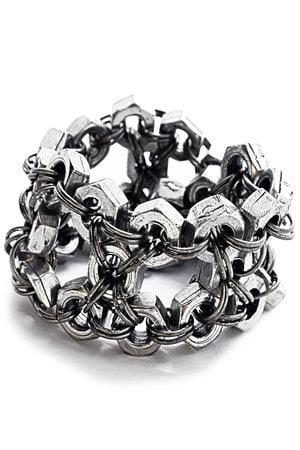 Bracelete Porcas Prateado