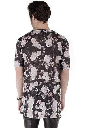 T Shirt Dark Pink Floral
