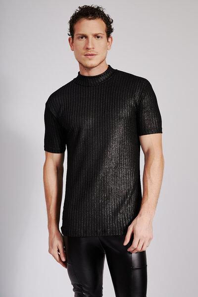 Camiseta Essencial Canelada com Brilho