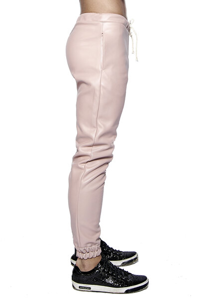 JOGGER EM COURO BABY PINK